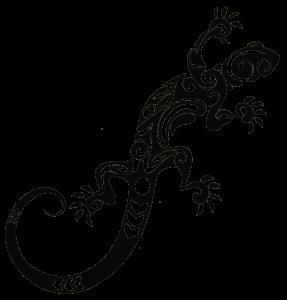 tatuajes de lagartos tribales